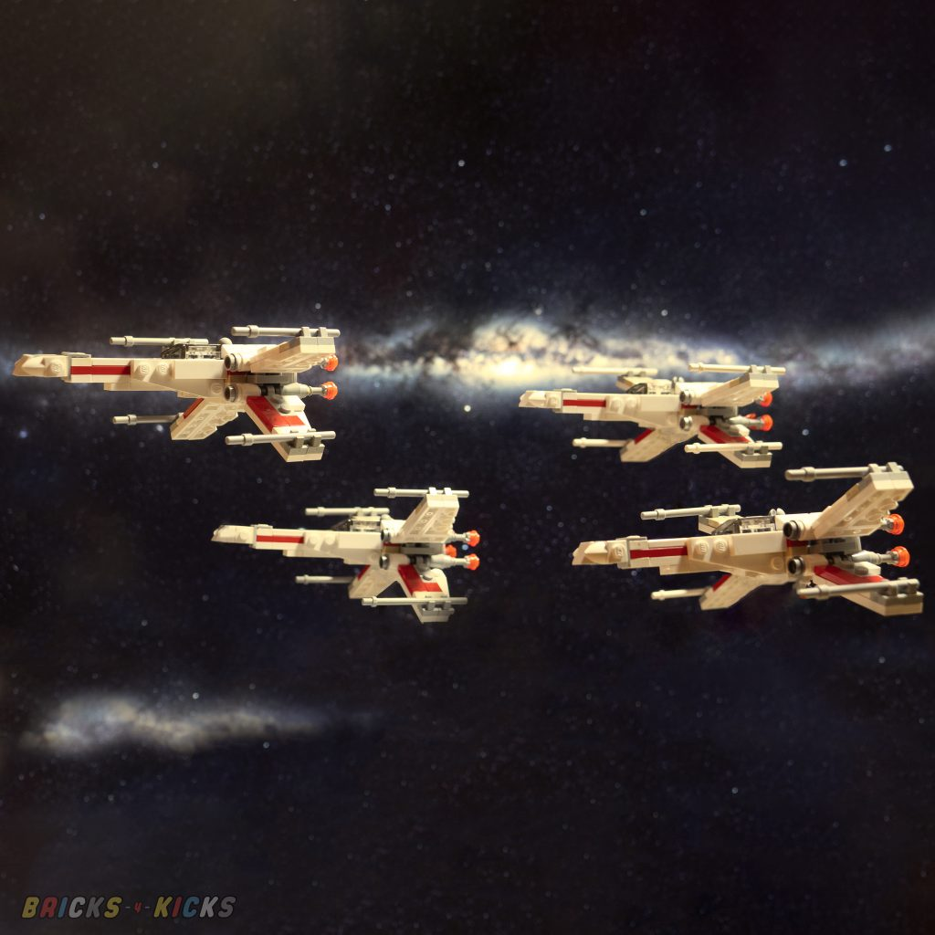 A wing of starfighters